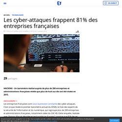 Les cyber-attaques frappent 81% des entreprises françaises