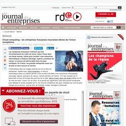 Cloud computing : les entreprises françaises mauvaises élèves de l'Union européenne - National - Le Journal des entreprises