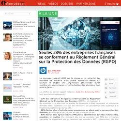 Seules 23% des entreprises françaises se conforment au Règlement Général sur la Protection des Données (RGPD)
