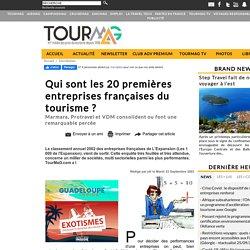 Qui sont les 20 premières entreprises françaises du tourisme ?