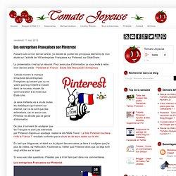 Les entreprises Françaises sur Pinterest