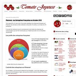 Les Entreprises Françaises en Octobre 2012 : Tomate Joyeuse