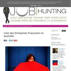 Liste des Entreprises Françaises en Australie