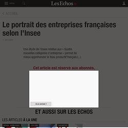 Le portrait des entreprises françaises selon l'Insee - Les Echos