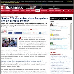 Seules 7% des entreprises françaises ont un compte Twitter