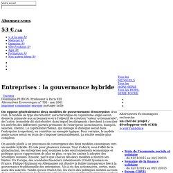 Entreprises: la gouvernance hybride