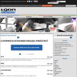 Liste des entreprises dans le secteur Energie hydraulique, hydroélectricité sur Lyon Entreprises