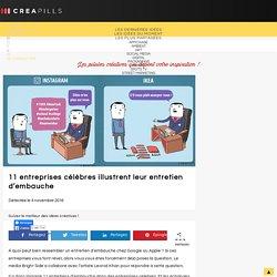 11 entreprises célèbres illustrent leur entretien d'embauche