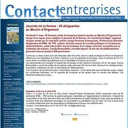 Contact Entreprises - InfosContact - 10/03/2014 - Journée de la femme : 45 dirigeantes au Moulin d'Orgemont