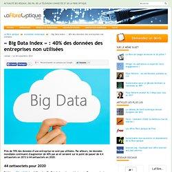 « Big Data Index » : 40% des données des entreprises non utilisées