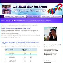 Top 10 entreprises de marketing de réseau (MLM) célèbres