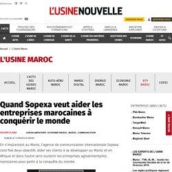 Quand Sopexa veut aider les entreprises marocaines à conquérir le monde - L'Usine Maroc