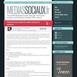 Médias sociaux > Evolution dans la perception des médias sociaux par les entreprises