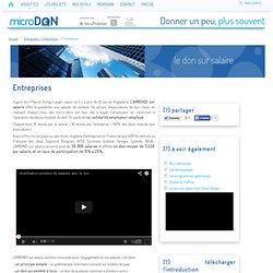 Entreprises - microDON