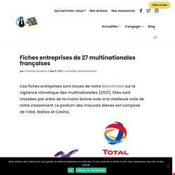 Fiches entreprises de 27 multinationales françaises