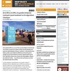 De la COP21 à la COP22, les grandes entreprises continuent à peser lourdement sur les négociations climatiques