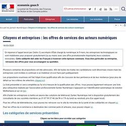 Citoyens et entreprises : les offres de services des acteurs numériques