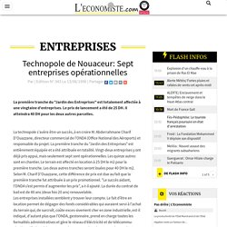 Technopole de Nouaceur: Sept entreprises opérationnelles