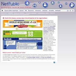 Check-list réseaux sociaux pour les entreprises et les organisations