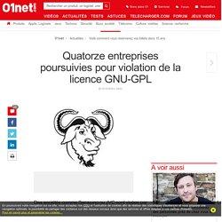 Quatorze entreprises poursuivies pour violation de la licence GNU-GPL