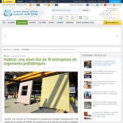 Habitat: une short-list de 19 entreprises de logements préfabriqués