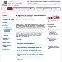 Entreprises - Les sites web des entreprises: présenter ses produits et gérer des offres d'emploi