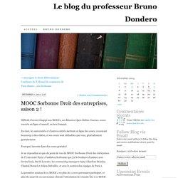MOOC Sorbonne Droit des entreprises, saison 2 !
