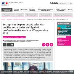 Index Egalité septembre 2019