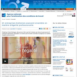 21 entreprises bretonnes avancent ensemble en matière d'égalité professionnelle