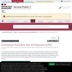 Cotisation foncière des entreprises (CFE) - professionnels