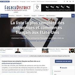 Annuaire des entreprises françaises aux Etats-Unis, commerces et professions libérales