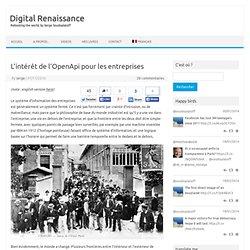 L'intérêt de l'OpenApi pour les entreprises