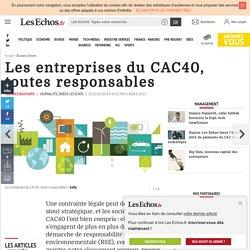 Les entreprises du CAC40, toutes responsables, Management