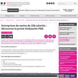 Entreprises de moins de 250 salariés : découvrez la prime Embauche PME - Embauche PME
