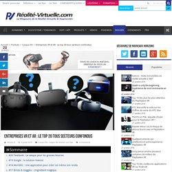 Entreprises VR et AR : Le top 20 tous secteurs confondus