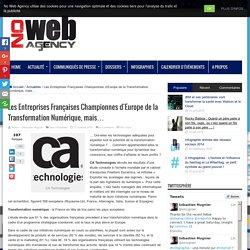 Les Entreprises Françaises Championnes d'Europe de la Transformation Numérique, mais… - No Web Agency