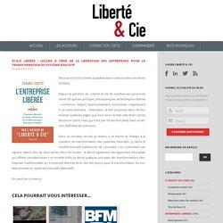 École libérée : Leçons à tirer de la libération des entreprises pour la transformation du système éducatif - Blog livre/Contact I.Getz