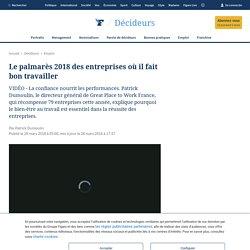Le palmarès 2018 des entreprises où il fait bon travailler