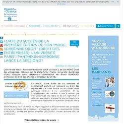 """Forte du succès de la première édition de son """"MOOC Sorbonne Droit"""" (Droit des entreprises), l'Université Paris 1 Panthéon-Sorbonne lance la session 2 !"""