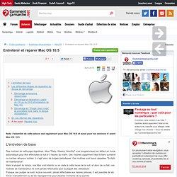Entretenir et réparer Mac OS 10.5