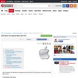 Entretenir et réparer Mac OS 10