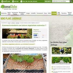 Comment entretenir une toiture végétalisée extensive ?