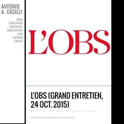 L'Obs (grand entretien, 24 oct. 2015)