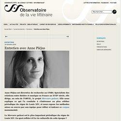 Entretien avec Anne Piéjus