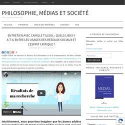 Quels liens y a-t-il entre les usages des réseaux sociaux et l'esprit critique ?