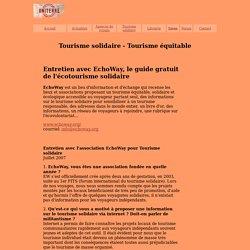EchoWay - entretien - Les sites internet à connaître - Le dossier de tourisme-solidaire.uniterre.com