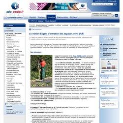 Le métier d'agent d'entretien des espaces verts (H/F)