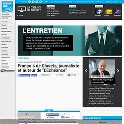 """François de Closets, journaliste et auteur de """"L'Échéance"""""""