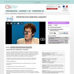 Entretien avec Geneviève Jacquinot - Canal Tématice