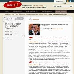 Babelio : entretien avec Guillaume Teisseire